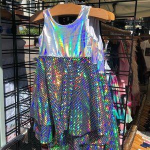 Mermaid Iridescent Twirly Girls Dress